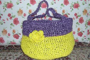 Borse Uncinetto Plastica Riciclata The Yarn Is Derived From Common Plastic Bags